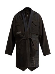 Maharishi Ma65 Kimono Style Cotton Blend Jacket Black