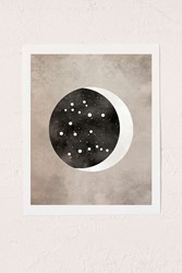 Urban Outfitters Claire Goodchild Moon And Stars Gemini Art Print No Frame