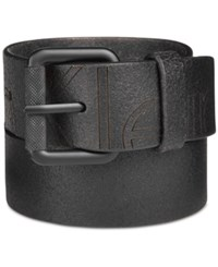 Calvin Klein Men's Cracked Finish Leather Belt Black