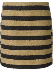 Sonia Rykiel Striped Loop Knit Skirt Nude And Neutrals