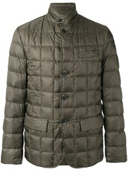 Fay High Neck Down Jacket Green