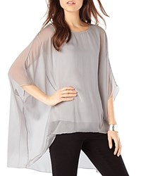 Phase Eight Layla Oversized Silk Overlay Blouse Silver