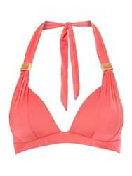 Biba Goddess Moulded Halter Bikini Top Hot Coral