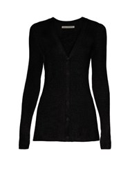 Emilia Wickstead Libby V Neck Cardigan Black