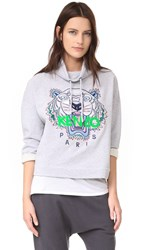 Kenzo Embroidered Tiger Pullover Light Grey