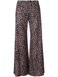 Raquel Allegra Wide Leg Flared Trousers Women Silk 0