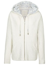 Fat Face Hemsby Textured Hoodie Ivory