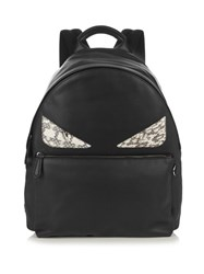 Fendi Bag Bugs Leather And Snakeskin Backpack Black Multi