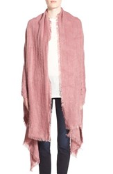 Women's Free People 'Koda' Brushed Scarf Pink Rouge