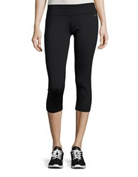 Calvin Klein Ruched Cropped Leggings Black