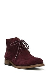 Franco Sarto Women's 'Heathrow' Lace Up Bootie Wine Suede