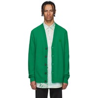 Acne Studios Green Neve Face Cardigan