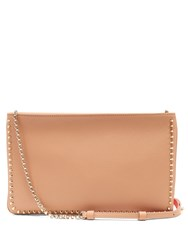 Christian Louboutin Loubiposh Spike Trimmed Leather Clutch Nude Multi