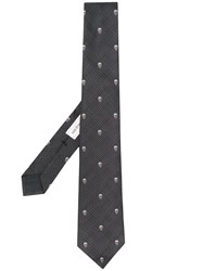 Alexander Mcqueen Skull Patterned Tie Black
