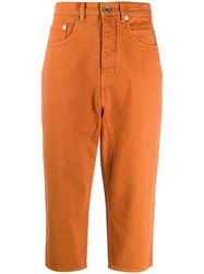Rick Owens Drkshdw Dropped Crotch Jeans Orange