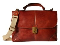 Bosca Dolce Collection Flapover Brief Amber Briefcase Bags Bronze