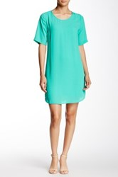Daniel Rainn Short Sleeve Shift Dress Green