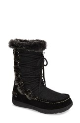Woolrich Lace Up Bootie Black Wool