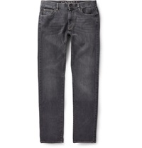 Canali Washed Denim Jeans Gray