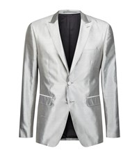 Burberry Raw Silk Evening Jacket Male Silver