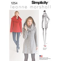 Simplicity Leanne Marshall Women's Coat Sewing Pattern 1254