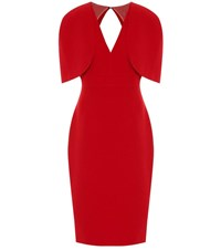 Safiyaa Cora Crepe Midi Dress Red