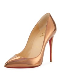 Christian Louboutin Pigalle Follies Metallic Red Sole Pump Gold