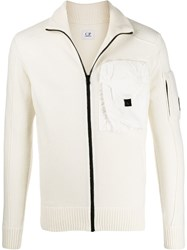 C.P. Company Cp Zip Up Sweater Neutrals