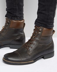 Bellfield Hyder Leather Laceup Boots Tan