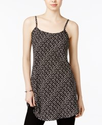 Rachel Roy Graphic Camisole Tunic Only At Macy's Black Ivory