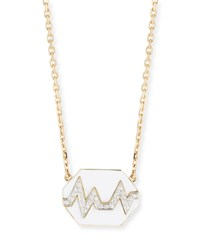 David Webb 18K Skip Necklace W Enamel And Diamonds