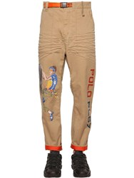 Polo Ralph Lauren Oversized Cotton Blend Twill Pants Beige