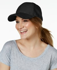 Collection Xiix Faux Suede Baseball Cap Black