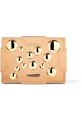 Lee Savage Space Bubbles Gold Plated Box Clutch