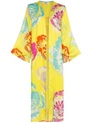 All Things Mochi Camila Side Split Kimono Yellow