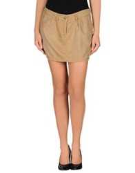 Maison Scotch Mini Skirts Khaki