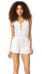 Cupcakes And Cashmere Brynn Eyelet Romper White