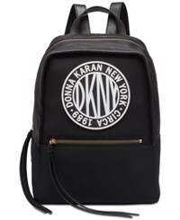 Dkny Tilly Circa Logo Neoprene Backpack Black Silver