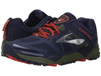 Brooks Cascadia 11 Peacoat Olive Torch Men's Running Shoes Black