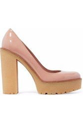Red Valentino Patent Leather Platform Pumps Antique Rose