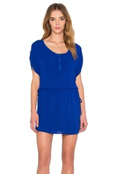 Splendid Crinkle Gauze Dress Cobalt