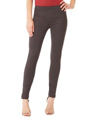 Sanctuary Five Pocket Plaid Skinny Leggings Brick Harper Grey