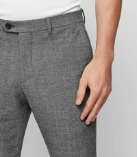 Reiss Haven Check Tailored Trousers In Charcoal