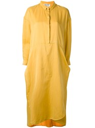 Henrik Vibskov 'Beatle' Dress Women Silk Cotton S Yellow Orange