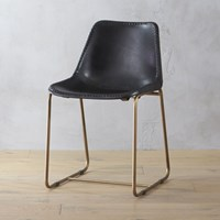 Cb2 Roadhouse Black Leather Chair