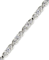 Giani Bernini Cubic Zirconia Infinity Tennis Bracelet In Sterling Silver Only At Macy's