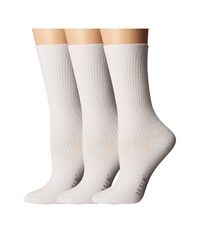 Hue Relaxed Top Socks 3 Pack White Women's Crew Cut Socks Shoes
