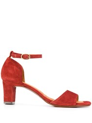 Chie Mihara Open Toe Sandals Red