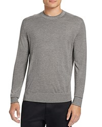 Theory Villings Silk Cashmere Striped Sweater Charcoal Light Grey