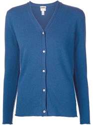 Massimo Alba V Neck Cardigan Blue